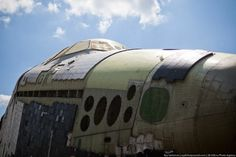 The following pictures show the remains of the space shuttle Buran 8