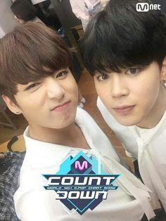 Jungkook   Jimin   BTS   MCountdown   051216   JIKOOK ♡