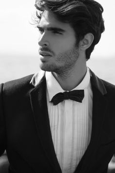 Juan Betancourt by Matteo Mazzi  Alessio Tarantini for Fashionisto Exclusive. That shirt is key/ with the askew bowtie.