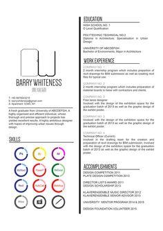 The Top Architecture Résumé/CV Designs,Submitted by Bernadette