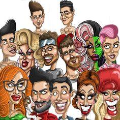 Lots of caricatures drawn and finished off this week. But which is your favourite @thejinkx @themarcjacobs @thebiancadelrio @katya_zamo @chesterlockhart @todrick @guskenworthy @mwilkas @eurekaohara @itsmickeytaylor @maxisms @andrewchristianintl . . #dragqueen #queen #rupaul #rupaulsdragrace #dragrace #gayjock #celebrities #gaymodel #gayinsta #gayguy #comedy #celebrity #gayfollow #gaystagram #gayman #lgbt #funny #gay #lgbtq #instagay #gaycute #cartoon #cartoons #caricature #caricatures…