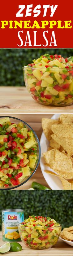 Zesty Pineapple Salsa A tasty and quick salsa.