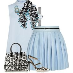 """""""spring leopard in blue"""" by cavell on Polyvore"""