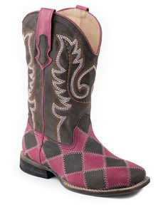 Roper Square Toe With Patchwork On Vamp Boots Urban Western Wear Little Cowgirl, Cowboy And Cowgirl, Cowgirl Boots, Western Wear, Western Boots, Pink Boots, Boot Shop, Cool Boots, Cute Pink