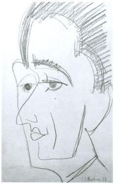 Portrait by @artistkirchner #expressionism