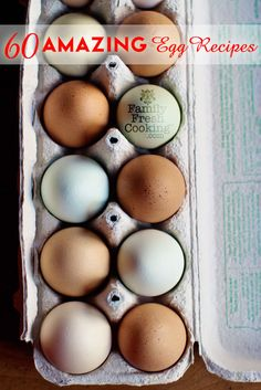 60 AMAZING Egg Recipes - From|FamilyFreshCooking.com