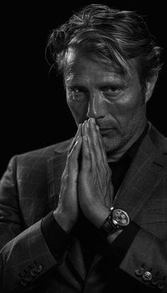 Dr Hannibal, Hannibal Tv Series, Hannibal Lecter, Yul Brynner, Pedro Pascal, Film Inspiration, Close Up Portraits, Mads Mikkelsen, Black And White Portraits