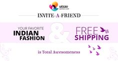 Invite-a-Friend & Unlock Free Shipping Coupon. Participate here