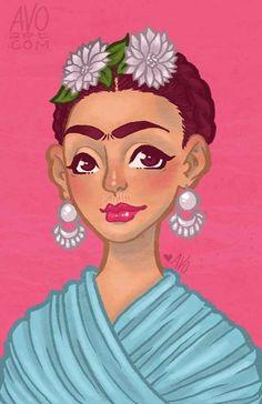 Para homenagear a Frida Kahlo, artistas pelo mundo, fizeram do talento do desenho, uma ilustração que com certeza representa a forma como cada um a vê.