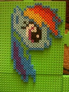 Rainbow Dash perler beads