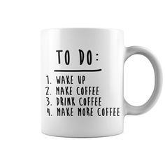 Coffee To Do List Funny Cute Shirts mug