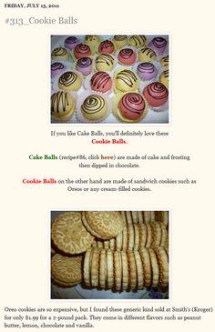 Sandwich cookie balls
