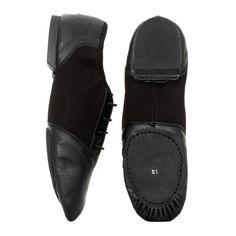 Starlite Negro Hyper Easy Slip On Leather Jazz Shoe 6L ReHZNeSW