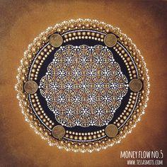 abstract dot art painting MONEY FLOW NO5 Tessa Smits full