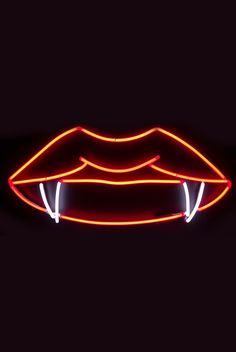Lips and Fangs Neon Sign