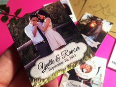 "{ Handmade Photo Magnets } ♥ TAKE 10% OFF ♥ Use code ""LOVESTORY"" at checkout. Oh la la...Support your favorite handmade business. Magnets are super strong and made in the USA!!! www.mini-ps.com #SavetheDate #WeddingFavors #Love #Wedding #Engagement #Bride #Engaged #MiniPs #PerfectPartyFavors #AwesomeWeddingFavors #MemorableSavetheDates #BESTof2015 #MiniPs #Etsy #EtsyHandmade #Love #SavetheDateMagnet #PhotoMagnet"