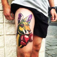 Kangaroo tattoo made in june 2016! @spendlotattoo #dad