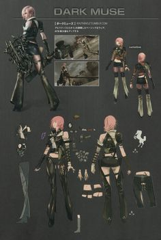 Lightning Returns: Final Fantasy XIII Garbs - Dark Muse Concept Artwork