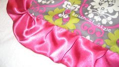 Prim & Prop Pinky Lime Baby Blanket by StitchofStyle on Etsy, $23.00