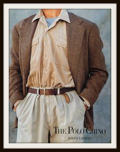 1991 Polo Chino Ralph Lauren advertisement. by vintageadsnprints