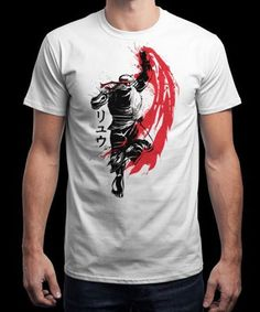 """""""Traditional Fighter"""" is today's £8/€10/$12 tee for 24 hours only on www.Qwertee.com Pin this for a chance to win a FREE TEE this weekend. Follow us on pinterest.com/qwertee for a second! Thanks:) (This promotion is in no way sponsored endorsed or administered by or associated with Facebook.)"""