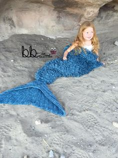 (4) Name: 'Crocheting : Mermaid Tail Blanket with Loops