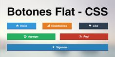 Como hacer botones Flat usando iconos con CSS