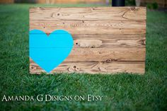 Personalized wood sign Wedding guest book alternative with wrap around heart via Etsy