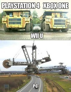 Xbox One vs. Wii U. Laugh your self out with various memes that we collected around the internet. Gamer Humor, Funny Gaming Memes, Stupid Funny Memes, Pc Memes, Gamer Cat, Freaking Hilarious, It's Funny, Video Game Logic, Video Games Funny