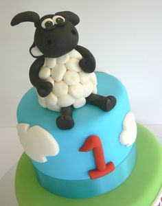 Timmy Time Model Birthday Cake By Nichola Shaun The Sheep Cake, Lemon Roasted Potatoes, 2 Birthday Cake, Birthday Ideas, Timmy Time, Cheese Stuffed Peppers, Cakes For Boys, Party Cakes, Rice Krispies