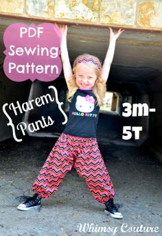 Whimsy Couture Sewing Blog: New Whimsy Couture Sewing Pattern - Harem Pants