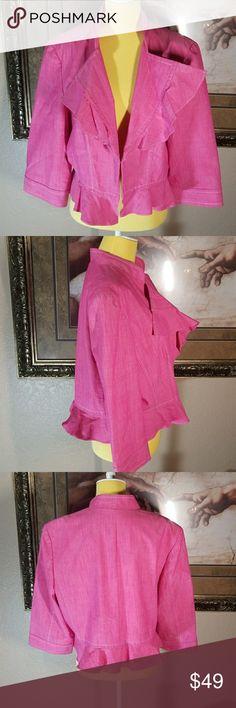 Peck&Peck Weekend Jacket Beautiful pink flowers line this  Peck&Peck Blazer Peck & Peck Jackets & Coats Blazers