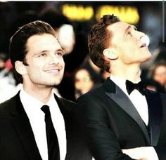 Sebastian Stan and Tom Hiddleston