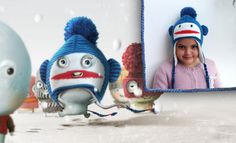 Olga Stitch's ears are now warm and cozy, thanks to her funny monkey hat!