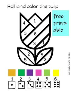 Free preschool math printable counting and number recognition game. Kindergarten Math, Preschool Activities, Number Games Preschool, Preschool Curriculum, Free Preschool, Spring Activities, Learning Activities, Teaching Kids, Kids Learning