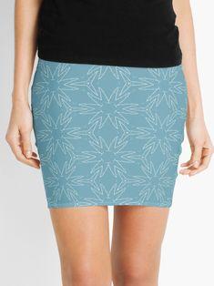 """Milky Blue #1"" Mini Skirt by Kettukas | Redbubble Waist Skirt, High Waisted Skirt, Mini Skirts, Blue, Fashion, Moda, High Waist Skirt, Fashion Styles, Mini Skirt"