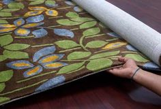 Bloom - Brown/Green For more info Visit us:http://www.therealrugcompany.co.uk/ #Home #InteriorDesign #RealRug