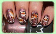 Nail art poissons au one stroke