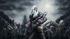 Ancient Finnish shamans would summon the dead to fight witches and disease creatures. Related: Read more about Finnish mythology and folklore on Tiina P. Shaman with Army of the Dead Wild Creatures, Mythical Creatures, Helsinki, Types Of Armor, Horror Comics, Medieval Armor, Fantasy Movies, New Artists, Macabre