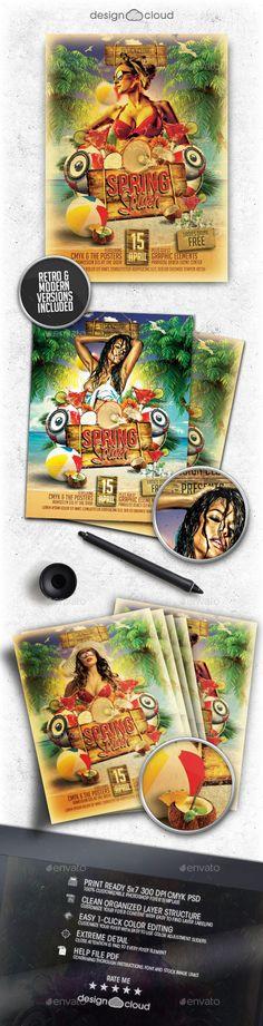 Spring Splash Flyer Template