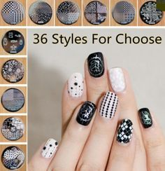 """36 Nail Art Manicure Stamping Plates Template Designs of your Choose """" FREE SHIPPING """""""