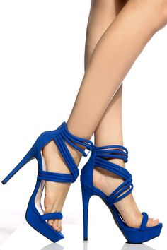 Cobalt Faux Suede Cross Strap Platform Heels @ Cicihot Heel Shoes online store sales:Stiletto Heel Shoes,High Heel Pumps,Womens High Heel Shoes,Prom Shoes,Summer Shoes,Spring Shoes,Spool Heel,Womens Dress Shoes