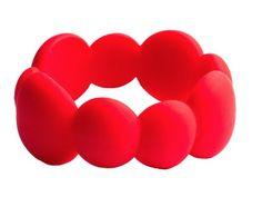 Jellystone Pebble Bangle -  SCARLET RED