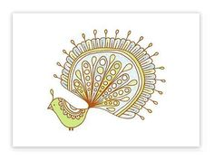Lemon limited edition gocco screen print Exotic Bird by jenskelley, $15.00