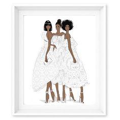 Limited Edition Print - Enchanted - Chanel Girls - Megan Hess