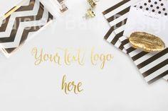 Styled Gold Desktop Stock Photography I от PaisleyBarnDesign