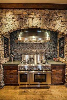 primitive kitchens,rustic kitchen decor,log home kitchens,log cabin kitchens,primitive log home cooking pits 00349 Küchen Design, Design Case, Design Ideas, Loft Design, Rustic Kitchen Design, Kitchen Decor, Country Kitchen, Country Homes, Kitchen Ideas
