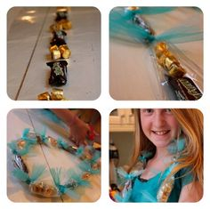 candy lei treat making tutorial