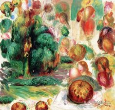 Pierre Auguste Renoir Heads, Trees And Fruit oil painting reproductions for sale