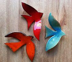 El yapımı, seramik, duvar kuşları. Sadece Dükkan Leyla'ya özel, özgün tasarımlar...          Turkuaz renkli duvar kuşu / Dokulu    ...